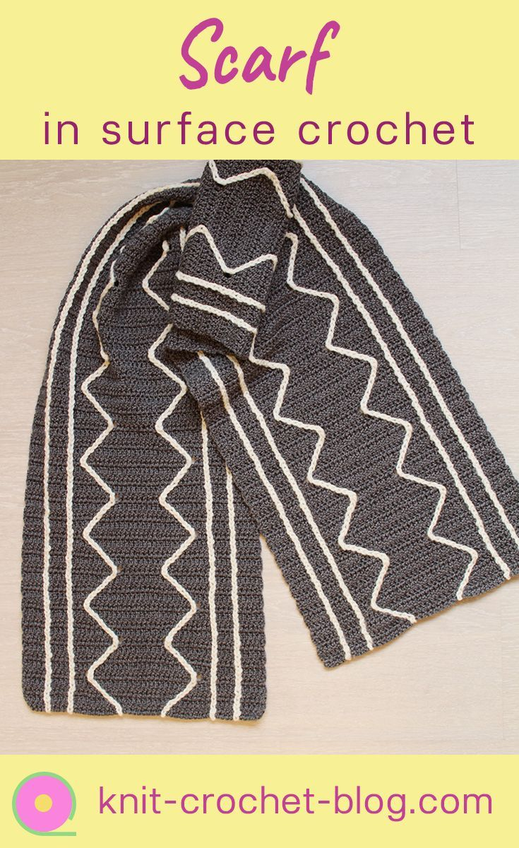 Surface crochet scarf in Simply Crochet -magazine, design Tuula Kyrölä #crochetscarf  #scarf