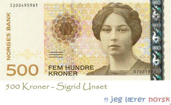 Sigrid Unset i norske krøner
