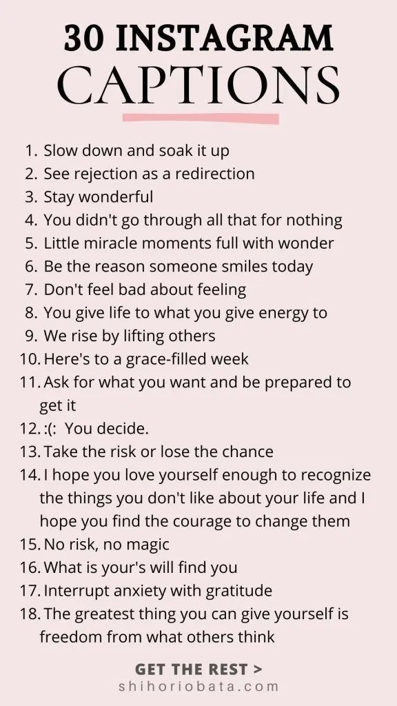 30 Inspirational Quotes For Instagram Instagram Bio Quotes Instagram Quotes Instagram Captions