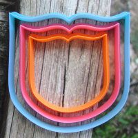 """Cookie cutter """"The plate №40"""" Set of 7, 9 and 11 cm"""