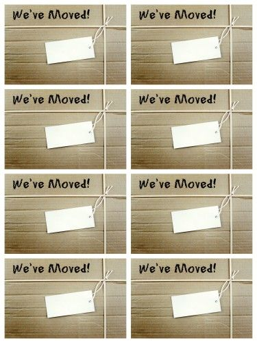 We Moved Free Printable cards