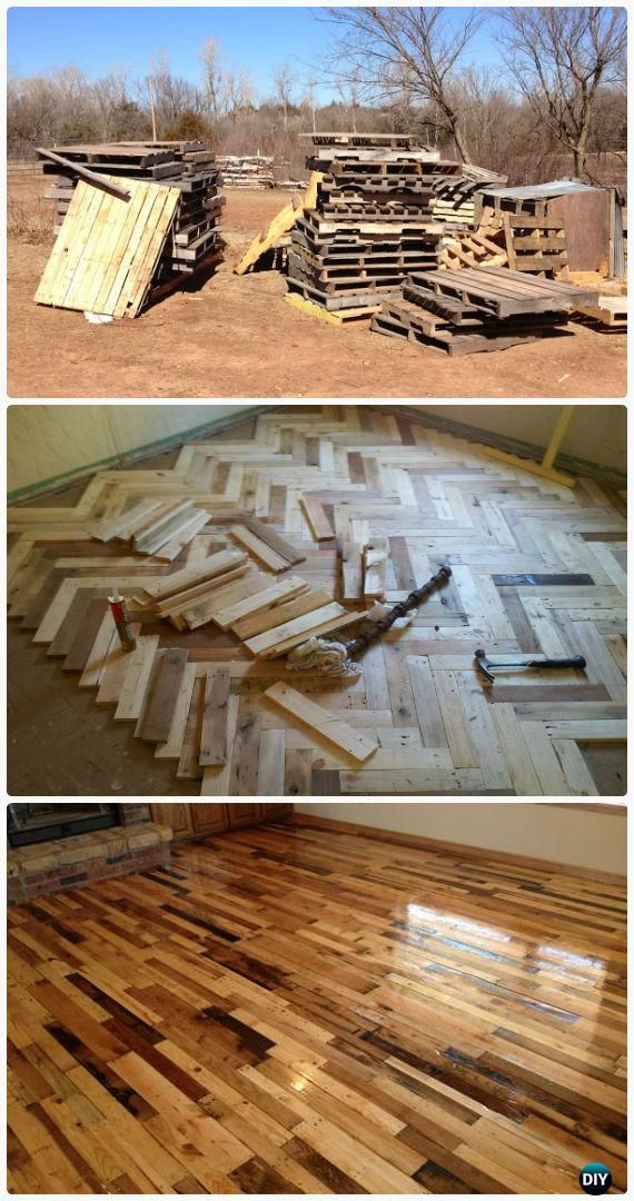 DIY Pallet Wood Flooring Instructions - DIY Flooring Ideas Low Cost