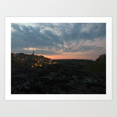 Landscape: Italy - Matera  Art Print by Sonia Marazia - $15.60