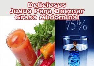 Deliciosos jugos para quemar grasa abdominal