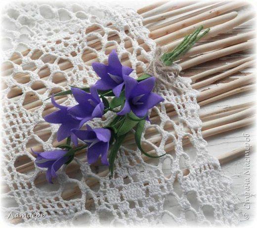 Украшение Моделирование конструирование Броши Луговые цветы Фоамиран фом фото 3