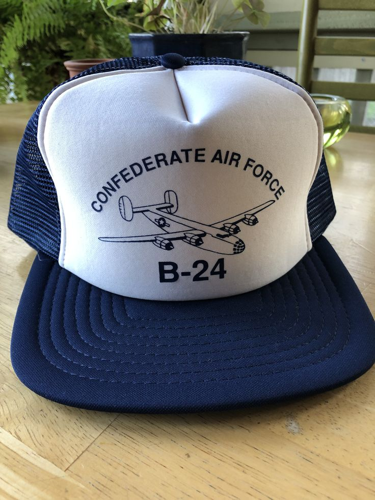 Vintage Confederate Air Force B24 Plane Foam Mesh Trucker