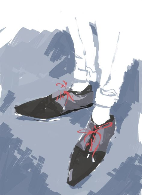 Joe Nephis Shoes - fashion illustration by David Andrews