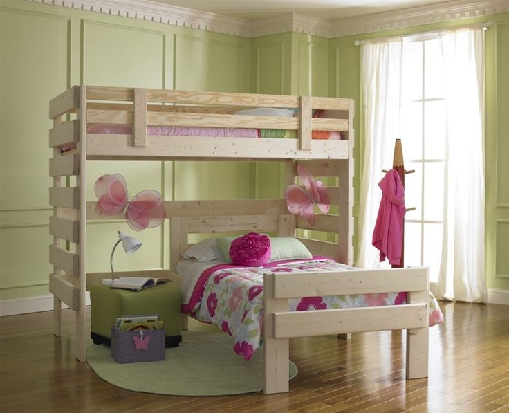 White bunk beds for girls bunk beds girls bedroom for Bunk bed bedroom designs