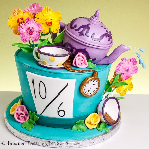 Alice in Wonderland Baby Shower Cake - chance number to due date!