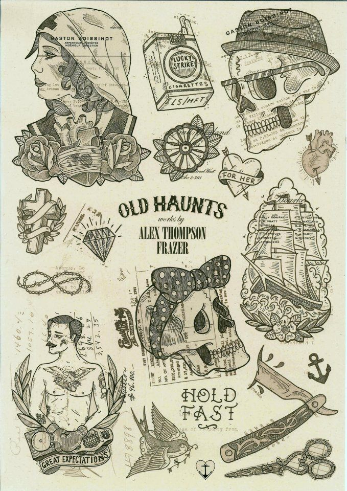 Old Haunts by Alex Thompson Frazer- So want a bunch from this flash! esp. the skulls