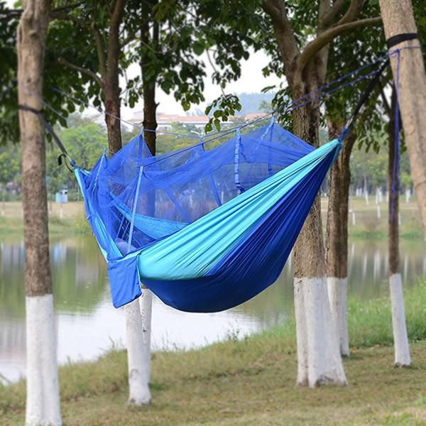 2017 Hammock. Go Glamping With This Colorful Hammock. Light Weight Camping, Hiking Hammock With Mosquito Net and Hanging Straps. Quality and Free Shipping.