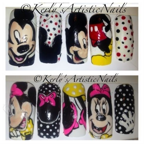 Mickey and Minnie Mouse Nails by KerlysNails - Nail Art Gallery  nailartgallery.nailsmag.com - 100 Best Minnie Mouse Nails Images On Pinterest Mice, Minnie