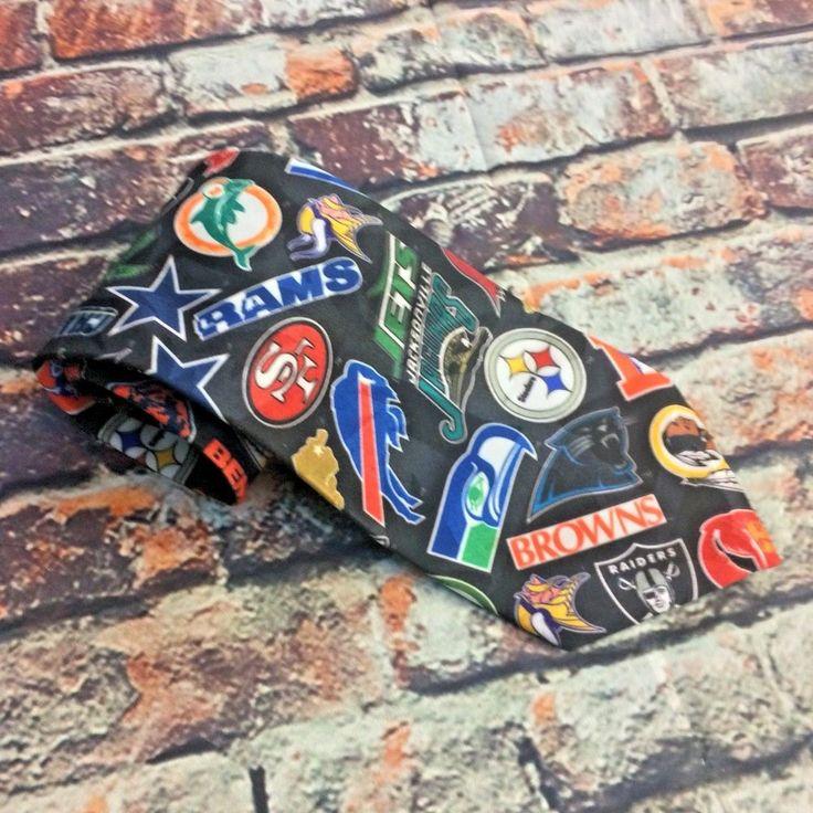 Vintage NFL Football Team Logos Mens Neck Tie 1994 Wallywear Patriots Broncos  | eBay