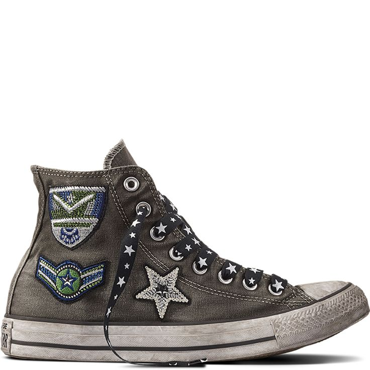Chuck Taylor All Star Army Patchwork Charcoal/Black/White charcoal/black/white