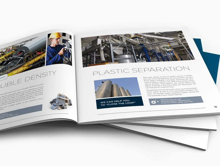 Avondster: binnenwerk - ontwerp brochure voor Ad Rem (recyclage industrie) - Avondster: brochure design / lay-out for Ad Rem (recycling industry)