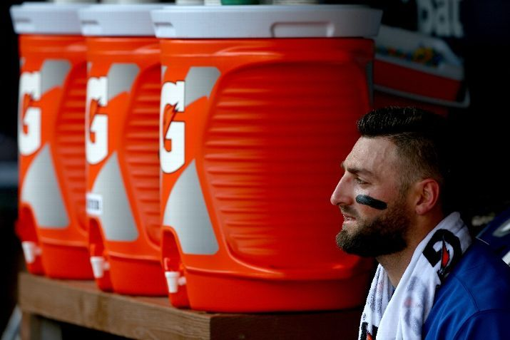 Kevin Pillar, TOR//Game 4 ALDS at TEX, Oct 12,2015