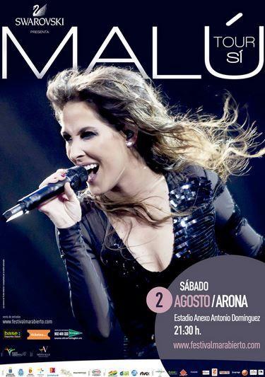 Tenerife Live - Concierto de Malú en Arona http://tenerifelive.eu/it/event/concierto-de-malu-en-arona