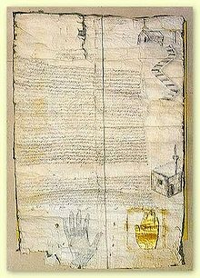The Patent of Muhammed, given to Saint Catherine's monastery in Sinai for the protection of Christians.