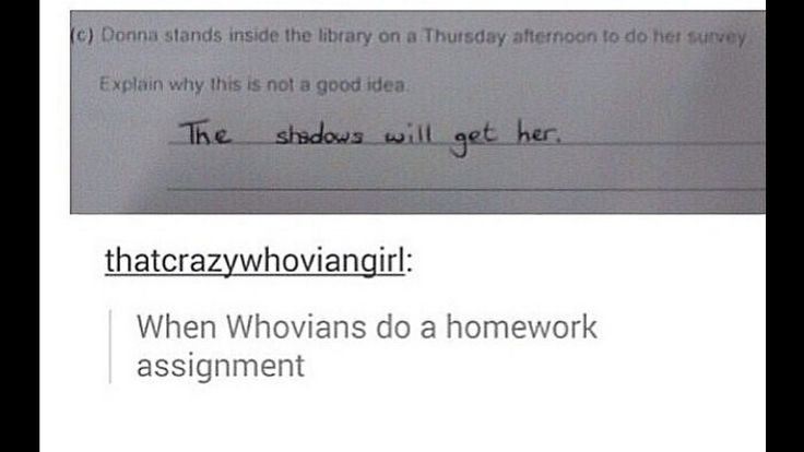 Why did I never get these kind of questions for my homework? Oh, yeah, Dr Who hadn't come back then!