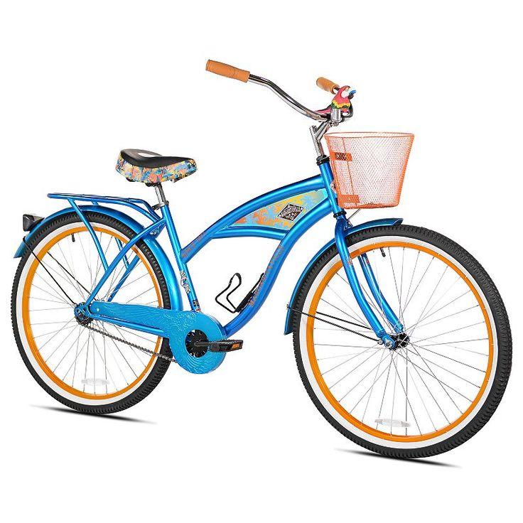 Margaritaville, Women's  26-Inch Cruiser Bike, Blue