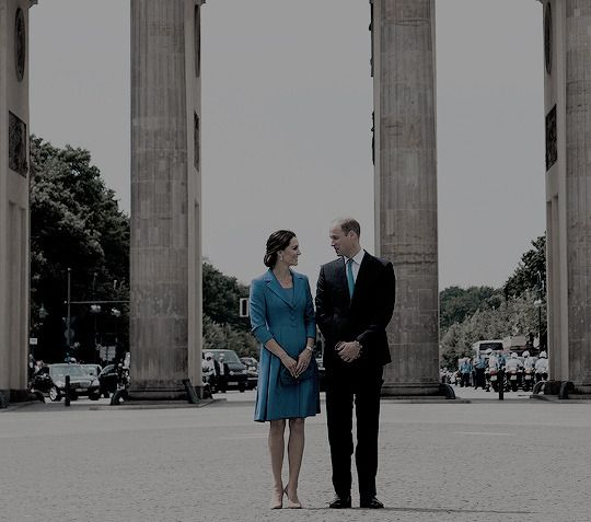 """duchesscambridges: """"""""The Duke & Duchess of Cambridge pose for photographs in front of The Brandenberg Gate on Day 3 of The Royal Tour of Poland & Germany on July 19, 2017."""" """""""