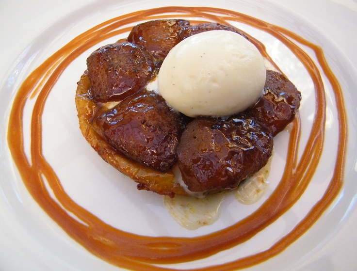 Stanley pear tarte tatin w French vanilla ice cream