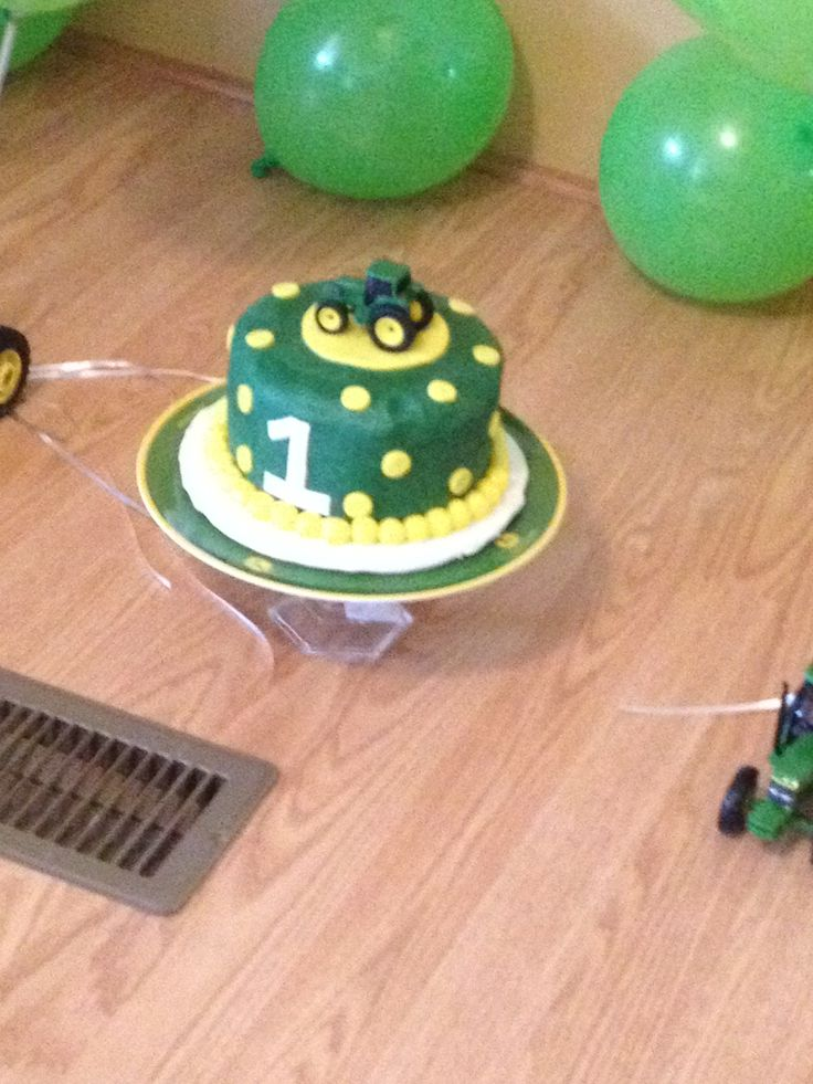 John Deer Smash Cake For 1 Year Old Pictures For A Friend