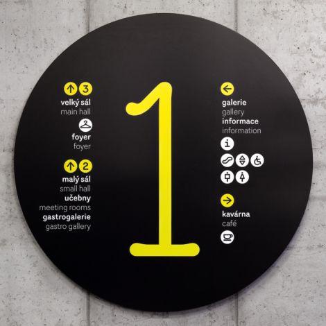 Sinalização Gong   Núcleo de Design Gráfico Ambiental - NDGA