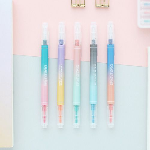 Livework 10 Colors double ended highlighter chisel/fine point set