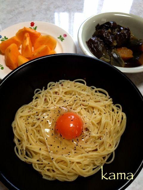 濃厚~(笑) - 58件のもぐもぐ - カルボナーラ 卵のせ by kamasann