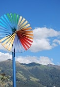 QUITO in color -  ecuador, tourism, vacation, mountain, sun, sunshine, windmill, green, blue, yellow, red, island, galapagos, central america, wind turbine, wind mill, handheld windspinners