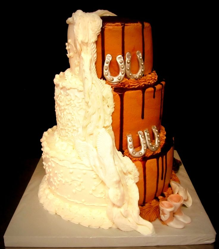 16 best Cake Half and half images on Pinterest Cakes Wedding
