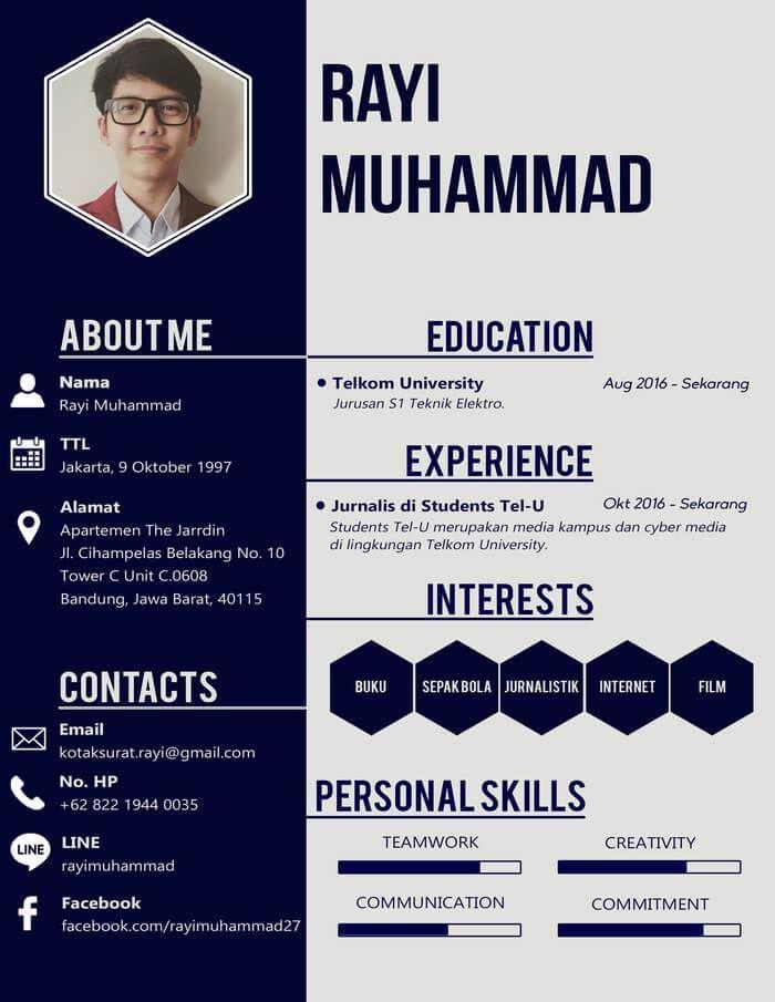 Cv Kreatif Fresh Graduate : kreatif, fresh, graduate, Contoh, Kreatif, Creative, Template,, Kreatif,, Riwayat, Hidup