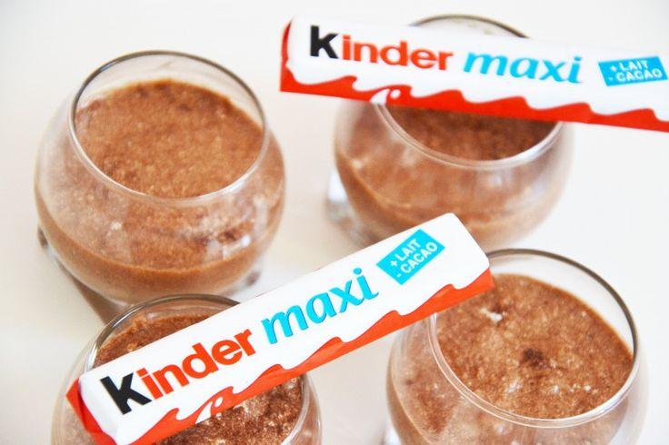 Mousse Kinder Maxi avec des blancs d'oeufs