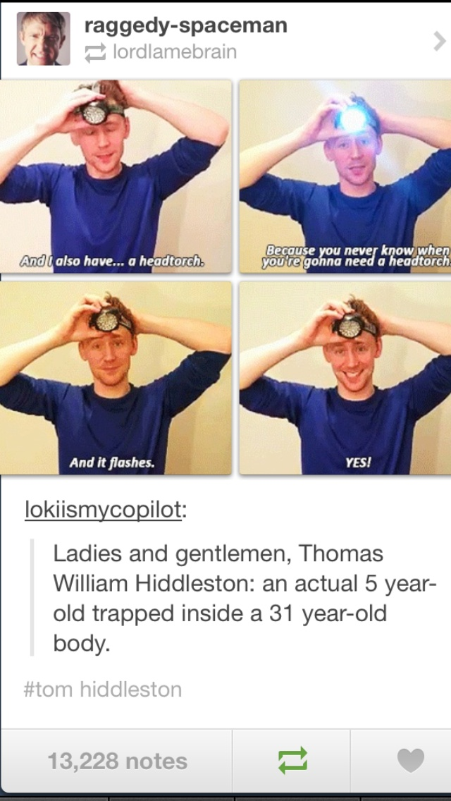 He and Matt Smith would get along great I think