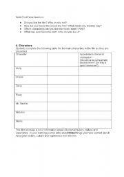 English worksheet: Rabbit Proof Fence