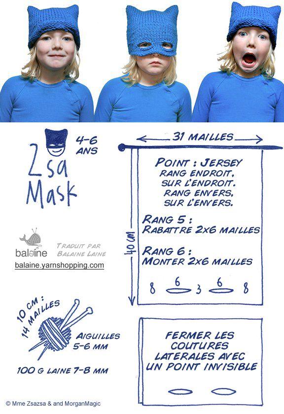 Adorables têtes masquées... Le modèle Bonnet à tricoter ! ~ Balaine | Laine online discount | Modeles gratuits