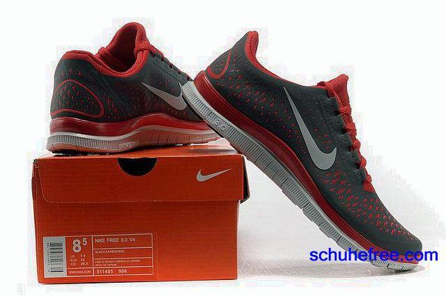 Herren Nike Free 3.0 V4 Schuhe Schwarz Rot