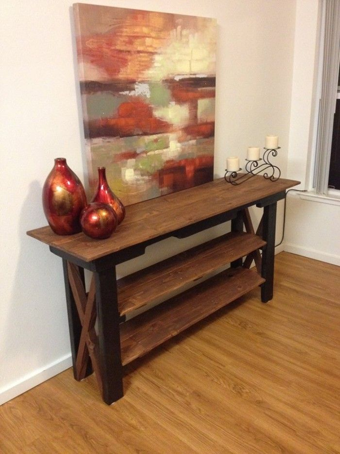 Side Table Out Of Pallet Wood | Pallet Ideas # Pallets #