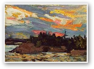 Tom Thomson  Sunset Canoe Lake II