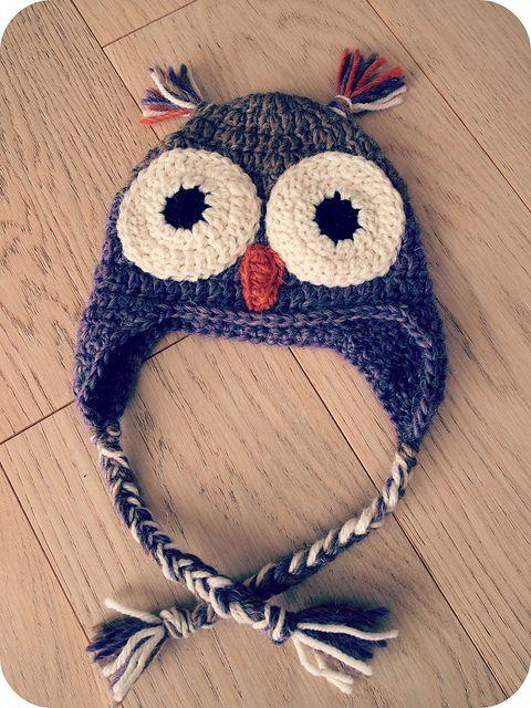 Bonnet chouette au crochet en Drops for You 4 lien vers tuto gratuit // Un Grain de Cel