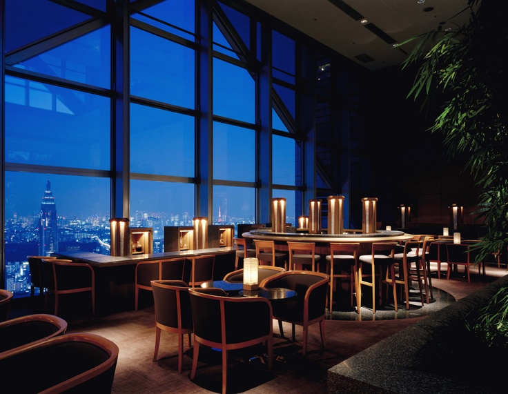 Peak bar at the top of the Park Hyatt Shinjuku - a great place to hang out and chill - very soothing - also good for business as it encourages discussion