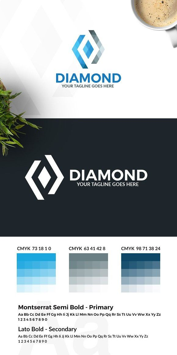 Diamond Logo. Logo Templates