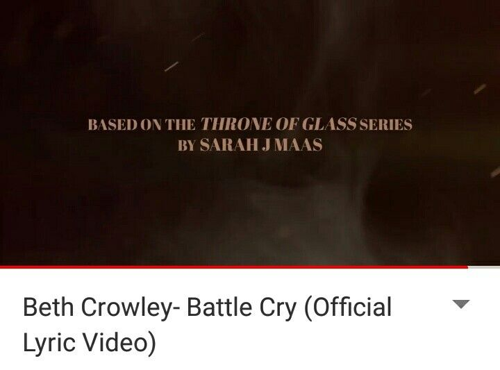 """Check out this song """"Battle Cry"""" by Beth Crowley! It fits Manon and it's based on TOG"""