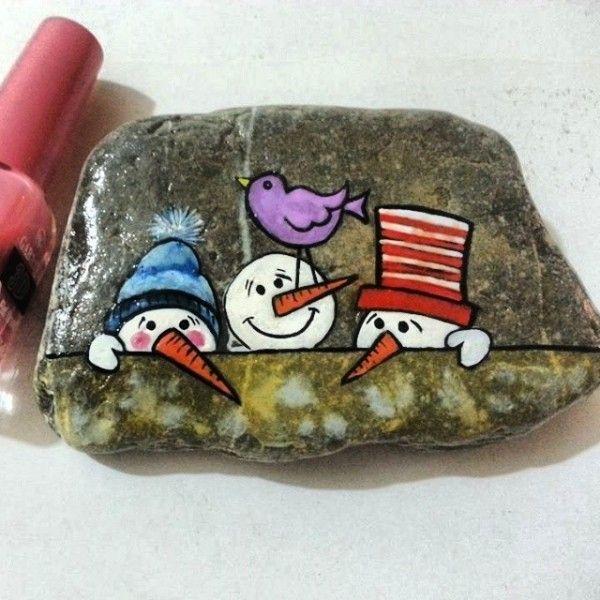steine bemalen kreative bastelideen weihnachtsbasteln