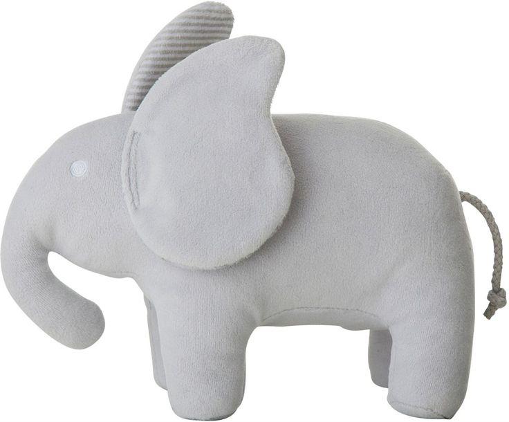 Ett gosedjur från Rätt Start som blir en rolig kompanjon för de allra minsta. Elefanten kan även användas som fin dekoration i barnrummet. Används från 0 månader och uppåt.