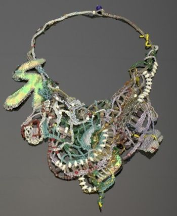 Scott Neckpiece, 1991 Glass beads, thread, and wire Racine Art Museum ...