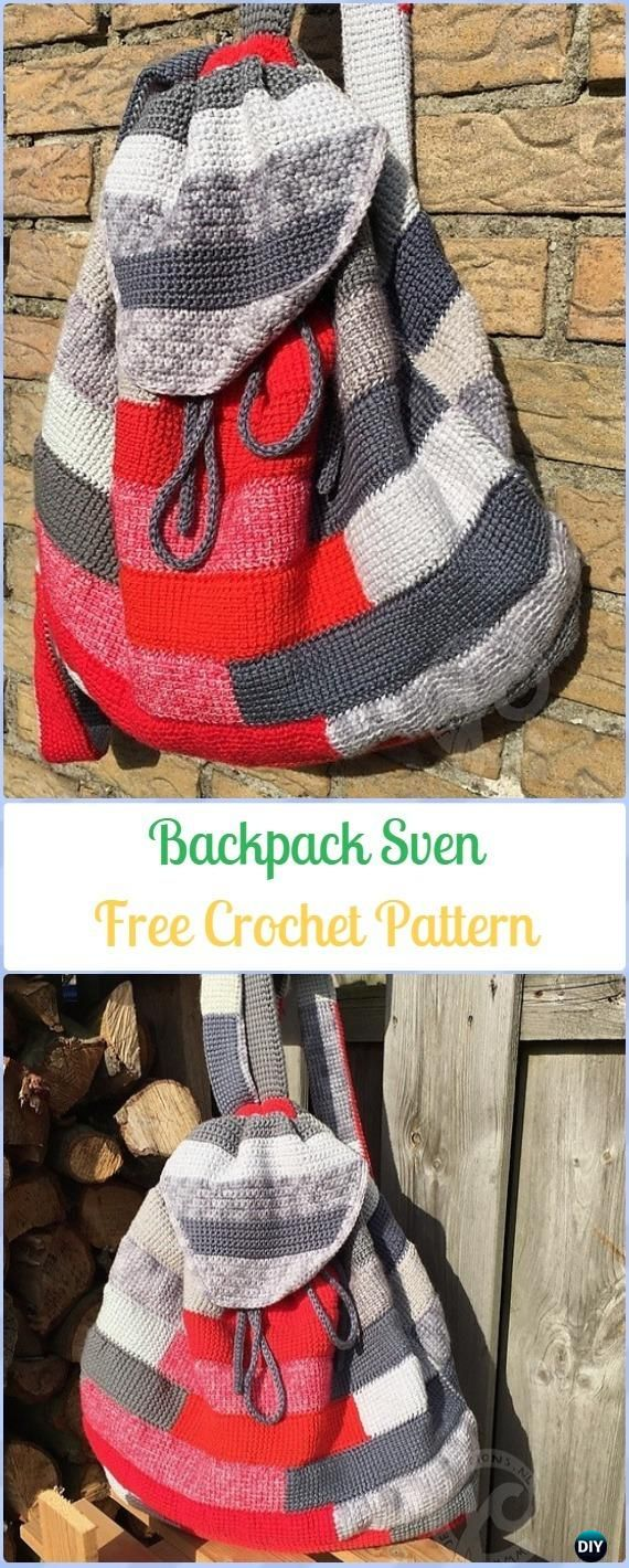 Crochet Backpack Sven Free Pattern -Crochet Backpack Free Patterns Adult Version
