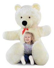 Riesen Teddybär Plüschbär Kuscheltier weiß 205cm groß