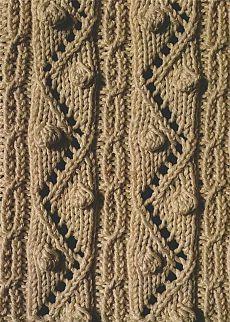 Аранское вязание: узор спицами 17 - зигзагообразные линии с шишечками. Описание + схемы/Узоры спицами/Вязание/Статьи / Шитье, вязание, рукоделие, бисероплетение